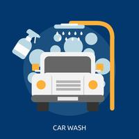 Car Wash Konceptuell illustration Design