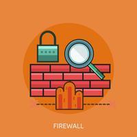 Firewall Conceptual Ilustración Diseño