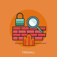 Firewall conceptuele afbeelding ontwerp