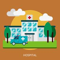 Hospital Conceptual Ilustración Diseño vector