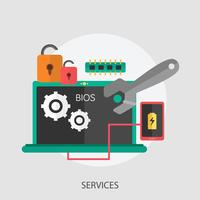 Services Conceptual illustration Design