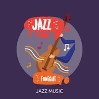 Jazz Musik Konceptuell Illustration Design