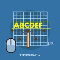 Progettazione dell'illustrazione concettuale di tipografia