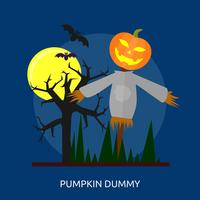 Pumpkin Dummy Conceptual illustration Design