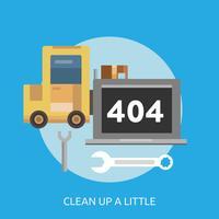 Clean Up a Little Conceptual illustration Design