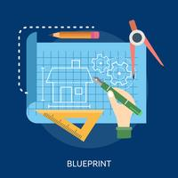 Blueprint Conceptual illustration Design