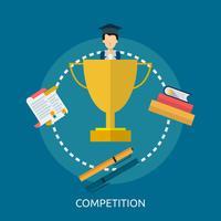 Ontwerp van de concurrentie het Conceptuele illustratie