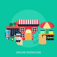 Showcase en ligne Illustration conceptuelle Design vecteur