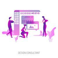 Progettazione concettuale dell'illustrazione del consulente di progetto