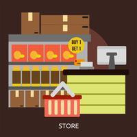 Store Conceptual illustration Design