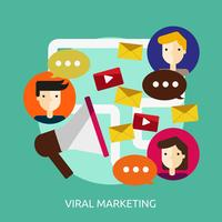 Viral Marketing Konceptuell illustration Design
