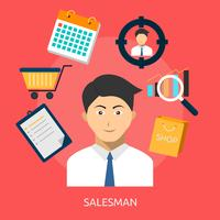 Salesmen Conceptual illustration Design