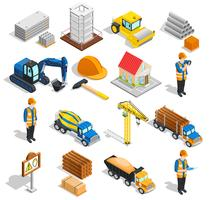 Construction Isometric Elements Set