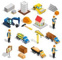Conjunto de elementos isométricos de construção