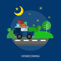 Homecoming Conceptueel illustratieontwerp