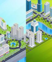 isometric city banners