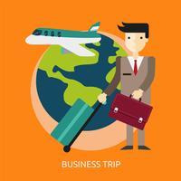 Progettazione concettuale dell'illustrazione di viaggio di affari
