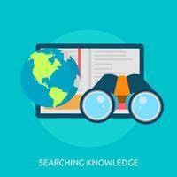 Ricerca dell'illustrazione concettuale dell'illustrazione di conoscenza