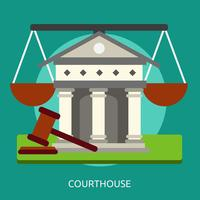 Ilustração conceitual de tribunal Design