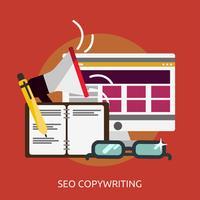SEO Copywriting Conceptual ilustración Diseño