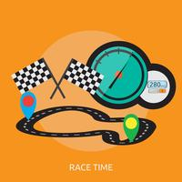 Race Time Conceptual illustration Design