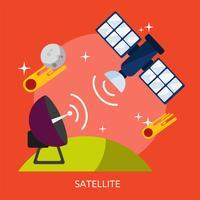 Satélite Conceptual Ilustración Diseño vector