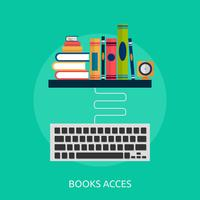 Books and keyboard Conceptual illustration Design