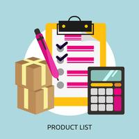 Liste de produits Illustration conceptuelle Design