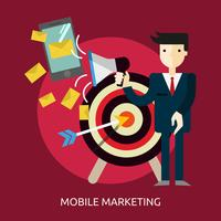Mobile Marketing Conceptuele afbeelding ontwerp