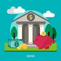 Ilustração conceitual de banco Design
