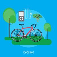 Ciclismo Conceptual Ilustración Diseño