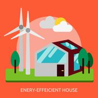 Energy efficient House Conceptual illustration Design