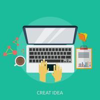 Creat Idea Conceptual Ilustración Diseño