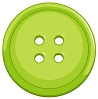 Groene knop op witte achtergrond