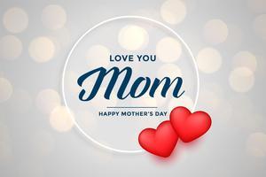 de dagachtergrond van de leuke gelukkige moeder met harten