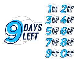Tage verbleibenden Countdown-Banner gesetzt