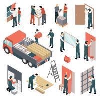 isometriska lägenheter renovering set