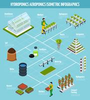 hydroponics infographic set