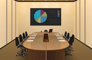 Illustrazione di interior design della sala per conferenze