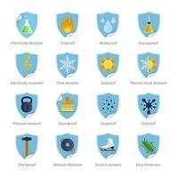 Skyddsbevisande plana färgmärken