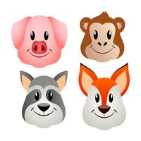 Animal Faces Set