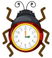 A ladybug clock template vector