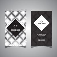 Business card with diamond pattern design