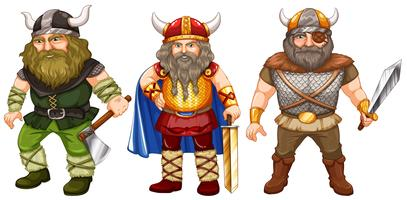 Set of cartoon warriors