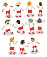 Conjunto de niños de fútbol