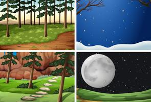 Set of nature background