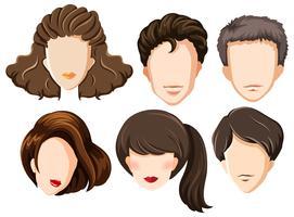 set of blank heads