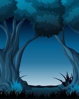 Scena notturna con alberi