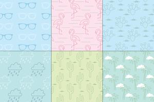seamless pastel summer patterns