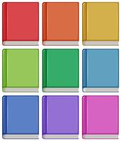 Set of different book cover